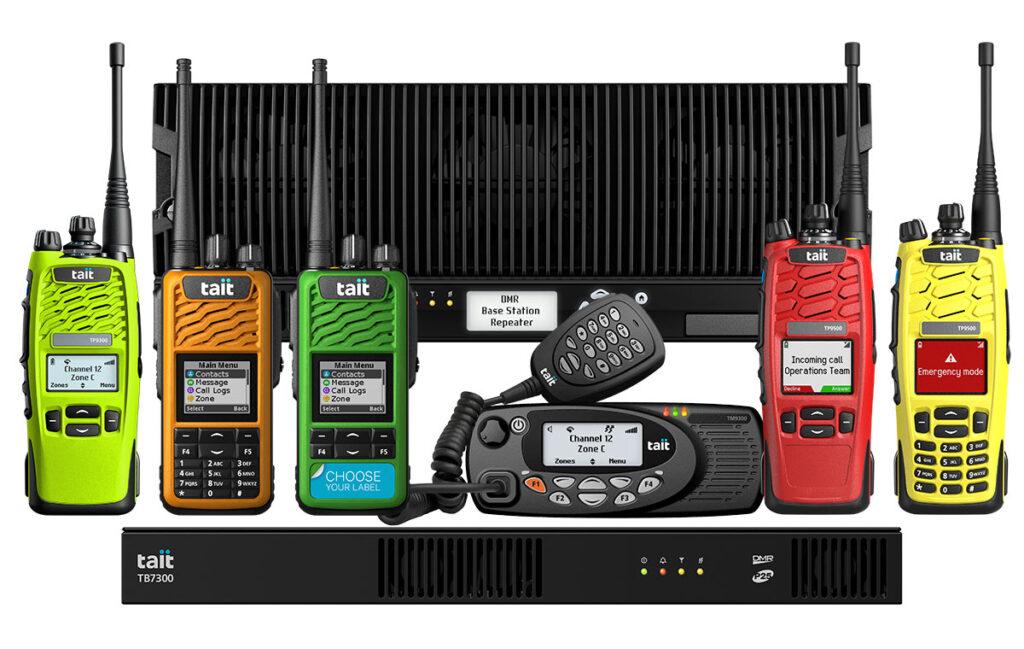Tait Digital Mobile Radio (DMR) family.